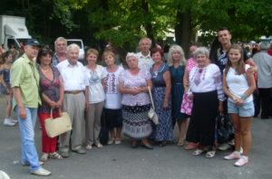члени ГО «Лемки Борщівщини» на фестивалі «Дзвони Лемківщини» у     Монастириській.