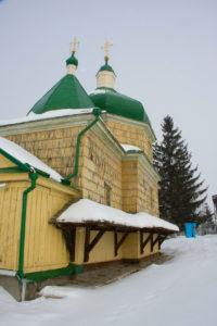 Михайлівська церква на території заповідника, де молився Богдан Хмельницький перед Берестецькою битвою (17 століття).