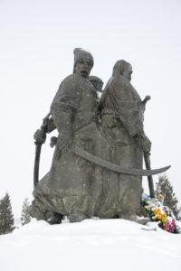 Пам'ятник козакам та селянам-повстанцям. Автор Анатолій Кущ.