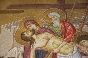 Фрагмент картини у церкві Гробу Господнього