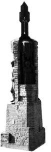 Пам'ятник «Борцям за волю України» в Чорткові Фігури охрові на бурім тлі… Чи то борці? А може – москалі! Аморфна, узагальнена ідея загрузла у сюжетнім киселі.