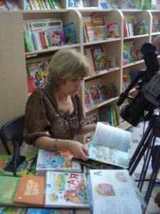 на презентації дитячих книжок в Домі книги