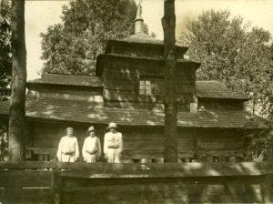 Церква Успіння Пресвятої Богородиці в селі Долобів  на Самбірщині (1610). Фото 1900-ті рр.