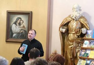 о. Василь Онищук (Церква Пресвятої Трійці УГКЦ м. Бережани) розповідає про свою нову книжку – «Ріка любові»,