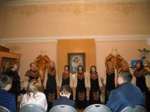Виступає жіночий камерний хор «Глорія».