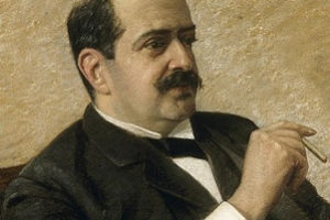 Karl Emil Franzos (1848 - 1904), Journalist und Schriftsteller. Pastell von Fanny Levy. Berlin 1893 Karl Emil Franzos (1848 - 1904). Journalist and Author. Pastel by Fanny Levy. Berlin 1893