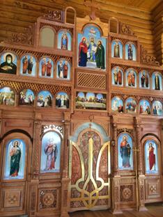 Іконостас кафедрального собору Андрія Первозваного. Місто Ужгород, 2019 рік