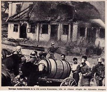 Гасіння пожежі після бомбардування Кременця. 12 вересня 1939 р. www.ebay.pl/itm/1939-pologne-dans-la-ville-krzemieniec-bombardee-3g811-/321910430917