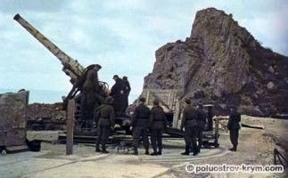 19-а берегова батарея на Західному мисі Балаклавської бухти. Початок 1942 р.