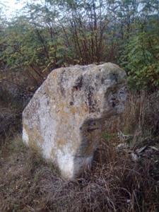 На світлині: кам'яна Баба в Бабинцях.