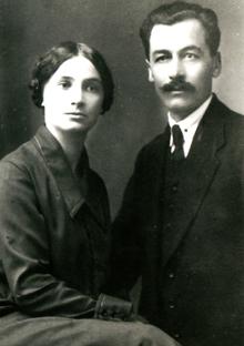 Педагог та літературознавець Василь Миколайович Костащук ( 1884 -- 1931) з  дружиною Лідою Кочержинською