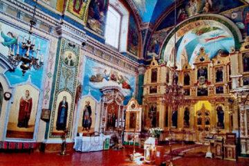 Іконостас Свято-Миколаївського собору ПЦУ у Кременці. Сучасний вигляд.