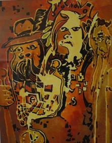 «Різдвяна Маланка» (2008. Авторська техніка. 34х43).