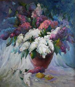«Бузкове цвітіння» (2005. Полотно, олія. 80х100). (2)