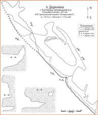 Рис. 1 План печери Деренівка