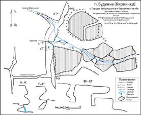 Рис. 2 План печери Буденна