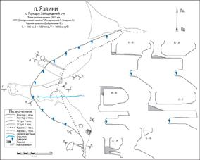 Рис. 3 План печери Язвини (Андрія)